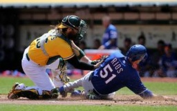 A's Silenced by Perez, Rangers in Series Finale