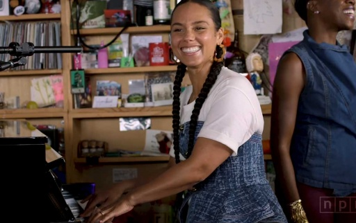 Alicia Keys @ NPR Music Tiny Desk Concert