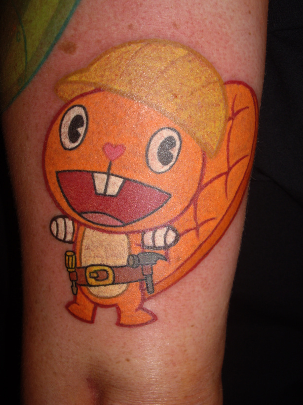 Happy tree friends tattoos happy tree friends mondo for Three friends tattoo